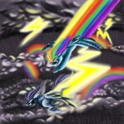 Rainbow Dash vs. Thunderclap|by Lobana Belargio