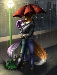 Kissing under the rain|by BlackRose_Shana