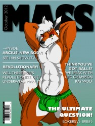 Arcius Commission ~ Mass Magazine (fixed)|by AcetheBigBadWolf