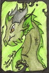 Gothic green|by weird dragon