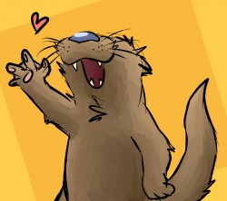 Happy otter|by CamCartoonFanatic
