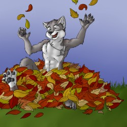 Happy Fall!|by Snowdog1717
