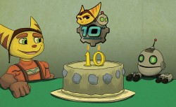 [FANART] Ratchet and Clank, 10th Anniversary cake|by Cesarin