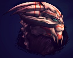 Tutorial - Turian Portrait [Male]|by Grush