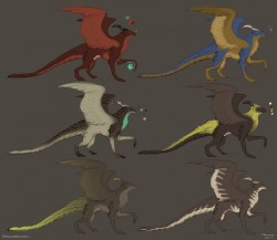 Dragon colour concepts|by Tereus