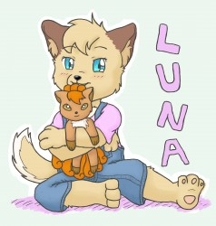 [Request] Luna and Vulpix|by starcandy12