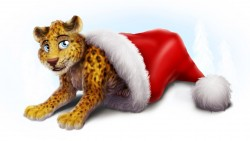 Christmas Leopard|by dream_and_nightmare
