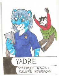 """Blue Shirt"" Badge by Salmagundi (IFC 2012)