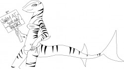 Me as a tiger shark for Shark Week! by Artful-Dodger (Shark Week 2012)|by yadre