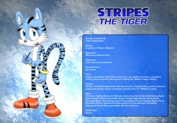 Stripes the Tigress character sheet|by yadre