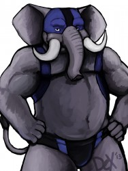 Wrestler Elephant|by Dextriux