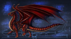 The Size of a Red Dragon reference sheet|by Achelladuega