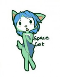 blushie space cat|by lynxie