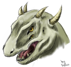 Sketch dragonhead|by Hakuwolf