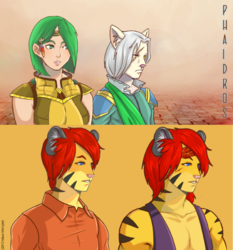 PHAIDROS portraits: Mistral, Z and Kain|by Merryjest
