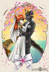 Wedding Portait (Ryusei-Lupi auction commission)|by ABD