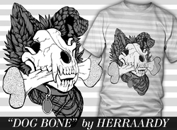 Dog Bone T-Shirt|by HerrAardy