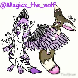 Nea and Magicx|by Nea the Fennec