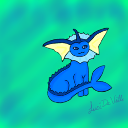 Vaporeon|by LuciDeVille