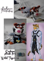 Crochet Fursona Plushies (wildtiger37)|by bellamoora