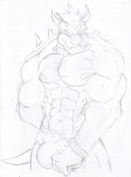 Bowser, the king... of buffness|by disneyishchimera