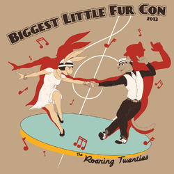 Biggest Little Fur Con: The Roaring Twenties - T-Shirt Desig|by Spelunker Sal