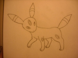Umbreon Sketch|by bhscorch1313