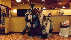 Group Fursuit Photo (with me) at TFF 2013|by chronocoon