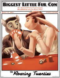 Biggest Little Fur Con: The Roaring Twenties - Conbook Cover|by Spelunker Sal
