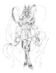 Beasts Fury: Cyrinx Form 3 Sketch|by BeastsfuryStudios