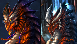 Red Dragon Heads|by Achelladuega