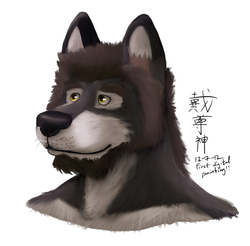 First Digital Painting!|by onionwolf