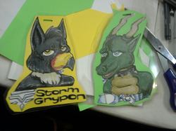 Storm Gryphon and Dresil Silverwing Badge|by StormGryphon