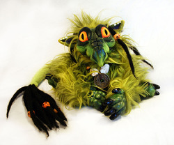 Helmur the baby dragon doll|by BeastVoodoo