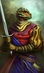 Lizard warrior|by Dandzialf