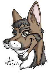 Robbie Headshot|by Woofie_AcidBlue Raccoon
