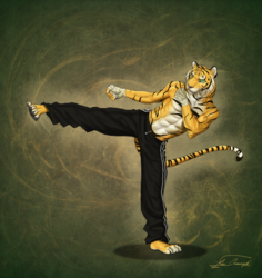 [Commission] Kickboxing Tiger|by ulbrek