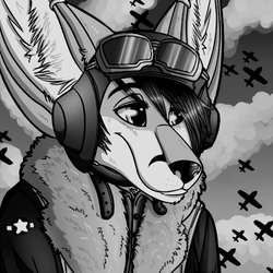 black and white ver. ww2 icon|by cryoester