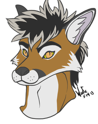 Lazarus Headshot|by Woofie_AcidBlue Raccoon