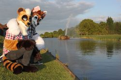 Me and Diesel down by the lake.|by Devon Bearcoon