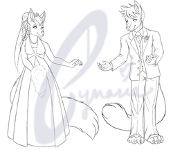 Happy Anniversary - ink wip|by Syn_and_Cynaria