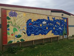 Seward Mural - Town Post Office Mural|by JA Red Wolf