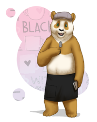 Xavier's Panda Form - by eclipsewolf|by invisibleBear
