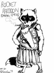 Fanart - Rocket Raccoon 1976|by Gerardson