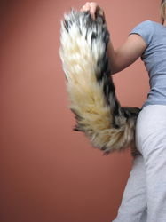 FurtasticTails, Speckled wolf tail (24 in long)|by Kora Wolf