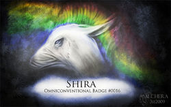 Midnight Rainbow Badge|by Shira Frozenmoon