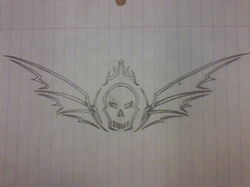 Tribal Skull And Wings|by Saphyrion
