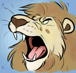 Literally Roaring New Icon!|by LeonardLion_O