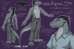 Aerik Reference Sheet|by EmeraldSoul