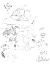 Accumulated Sketch Dump - Jam Hamster|by Spix